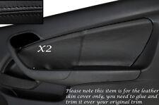 BLACK STITCH 2X DOOR CARD SKIN COVERS FITS HONDA INTEGRA DC5 ACURA RSX 02-06