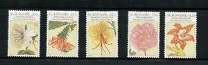 W361-Suriname-1981-Flore-Fleurs-Tableaux-5v-MNH