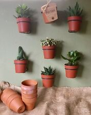 "6 PLANT POT HOLDERS,hangers,rings, to HANG 4"" FLOWER POTS ON WALLS FENCES"