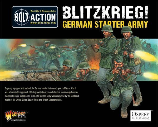 Warlord Juegos Perno acción alemán Blitzkrieg Estrellater Set Caja de modelo de ejército