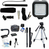 7-piece Video & Mic Filmmaker Kit For Pentax K-s2 K-s1 K-50 Dslr Cameras