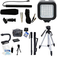 7-piece Video & Mic Filmmaker Kit For Canon Vixia G30 G20 R62 R60 R600 Camcorder