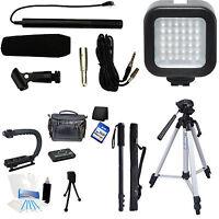 7-piece Video & Mic Filmmaker Kit For Jvc Gz Gz Ex210 Ex555 Ex250 Ex515 Ex310