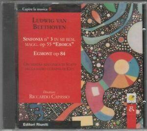 LUDWIG VAN BEETHOVEN SINFONIA N.3. EROICA. EGMONT CD Audio Musicale NUOVO