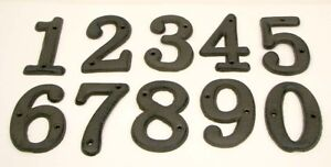 Image Is Loading Usa Er Cast Iron House Address Numbers 0