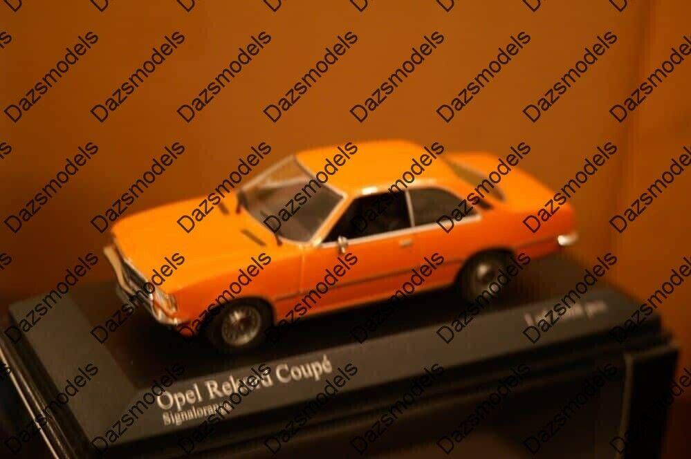 Minichamps opel rekord d coupe 1975 Orange 400044024