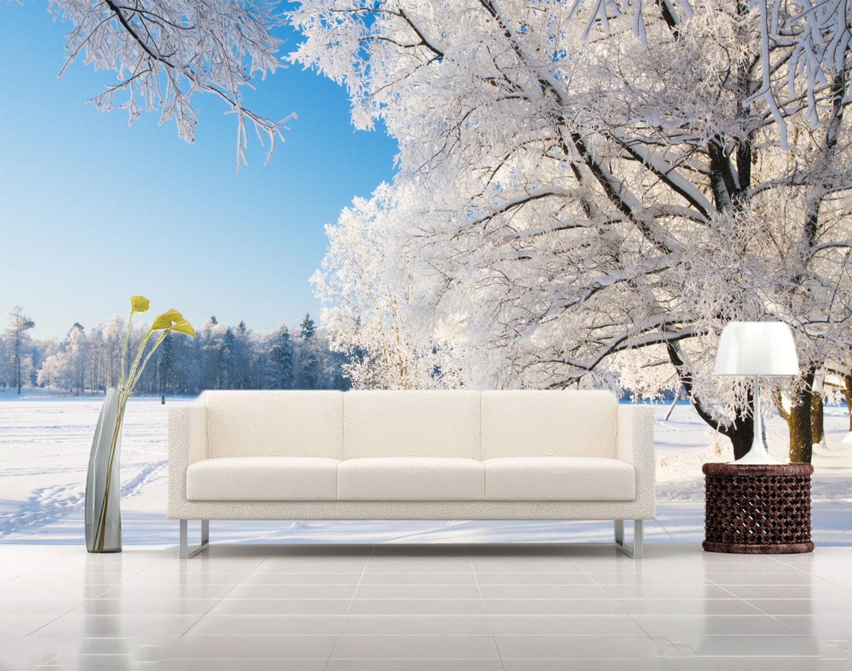 3D Schnee, Bäume Fototapeten Wandbild Fototapete Bild Tapete Familie Kinder  | Spielen Sie Leidenschaft, spielen Sie die Ernte, spielen Sie die Welt  | Reichlich Und Pünktliche Lieferung  | Schönes Aussehen