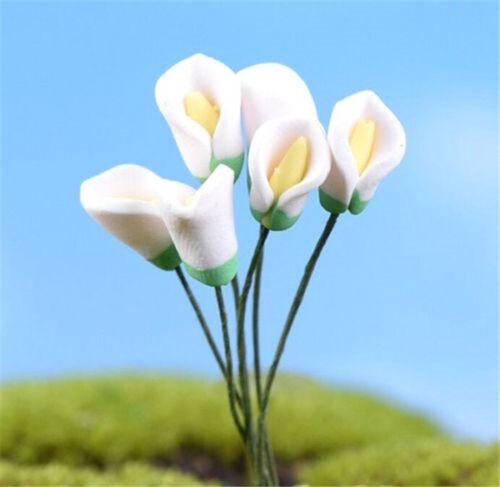 FD2285 Calla Lily Miniature Dollhouse Garden Craft Fairy Bonsai Decor Sprite ✿