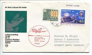 Ffc 1974 Lufthansa Primo Volo Lh 690 Dc-10 - Francoforte Bombay Jakarta Sydney