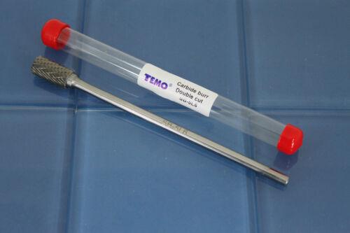 """TEMO SB-5L6 Double Cut CARBIDE BURR File 1//2/"""" Cylinder End 1//4/"""" D 6/"""" L Shank"""