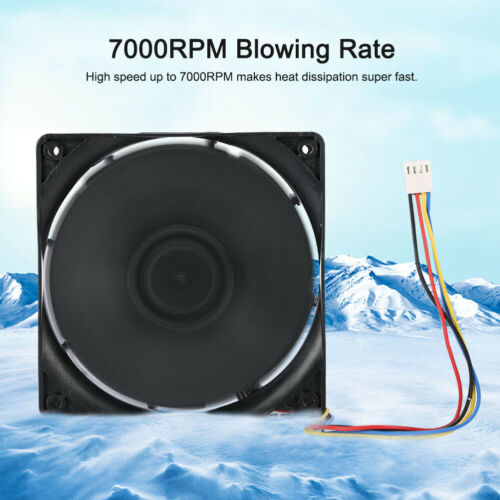 120mm High Speed Mining Cooling Fan  7000RPM Dual Ball Bearing 4pin Cooler DC12V