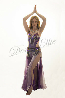 Belly Dance Cut-Out Costume Belly Body Stocking Dance wear Leotard Stretch Mesh