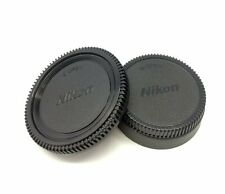 Body and rear lens caps for Nikon camera and lens D5500 D7100 D7200