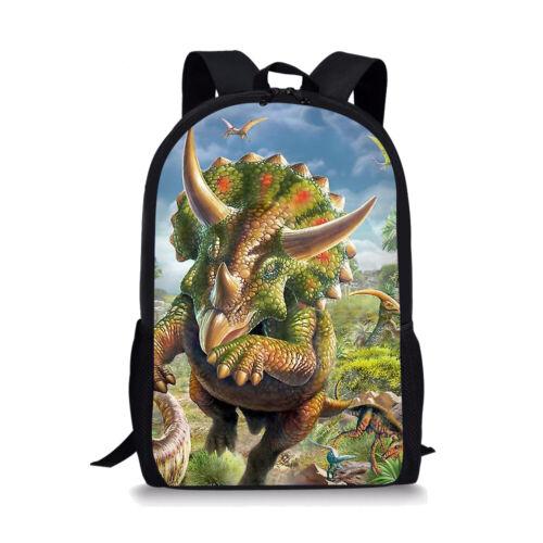 Spinosaurus Boys Backpack School Bags Children Lunch Pencil Bags Travel Rucksack