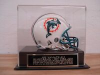 Display Case For Your Joe Namath Jets Signed Football Mini Helmet