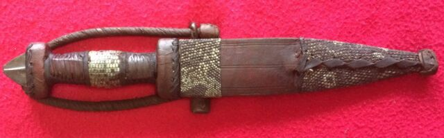 CENTRAL AFRICAN SAHARA ARM DAGGER of the TUBU TRIBE. MALI. CHAD. NIGER.