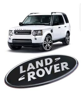 Land-rover-black-and-silver-front-rear-emblems-discovery-4-freelander-2-3