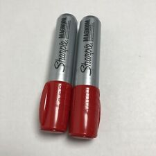 Sharpie Magnum Permanent Marker Jumbo Chisel Point Red Ink Pack Of 2