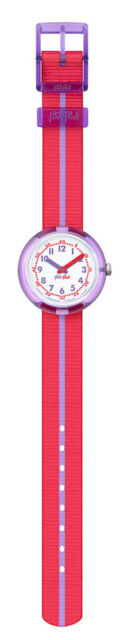 Flik Flak Child's Watch Purple Band FPNP021 Analogue Textile Purple, Red