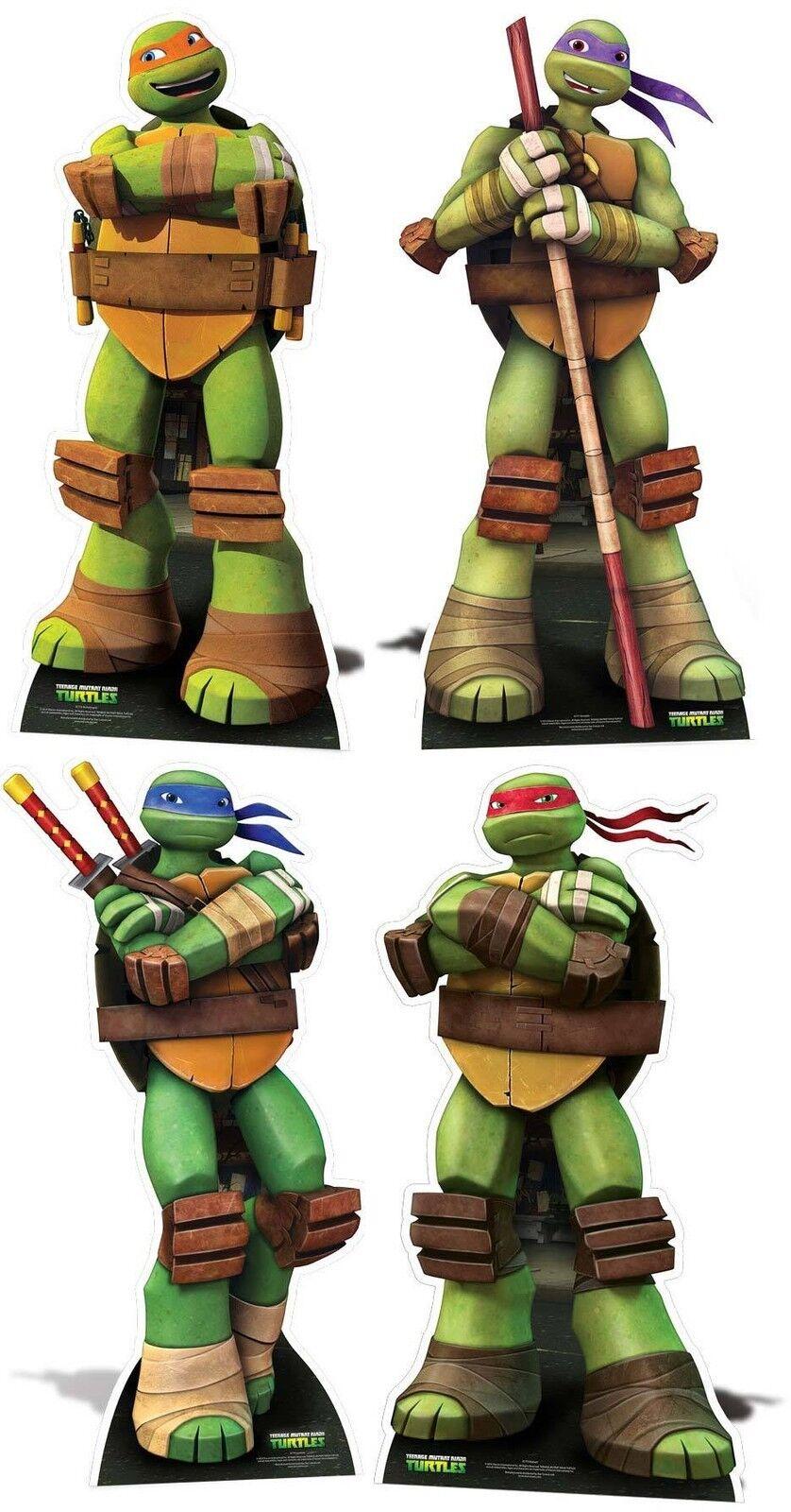 Teenage Mutant Ninja Turtle Set De 4 Tmnt 2015 LifeTalla Cartón Recortes