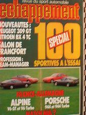 ECHAPPEMENT 1985 PORSCHE 944 + 944 TURBO / ALPINE V6 GT + V6 GT TURBO / BX 4TC