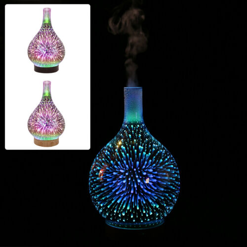 3D Firework Glass Essential Oil Aroma Diffuser LED Ultrasonic Humidifier Ace Hot