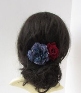 Real Touch Flower Hair Comb  Real Touch Floral Hair Comb  Silk Flower Hair Comb   Red Rose Floral Comb  Real Touch Red Rose  Rose Comb