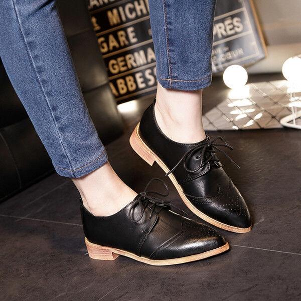 Bottes Élégant basses confortable 2.5 cm noir lacets comme cuir CW803