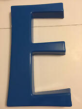 "Vintage ""E"" Blue Plastic Marquee Letter Sign Grocery 13 3/8 inches tall"