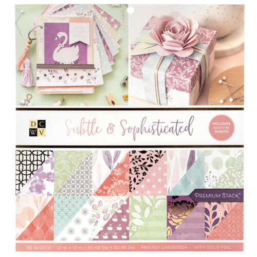 Subtle and Sophisticated AC DCWV Printed Cardstock Premium Stack 36 Sheets