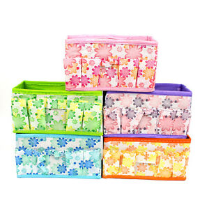 animal pattern fabric collapsible storage containers collapsible cube basket ebay. Black Bedroom Furniture Sets. Home Design Ideas