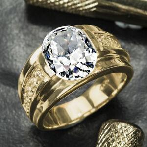 18k Yellow Gold Filled Generous White Sapphire Women Wedding