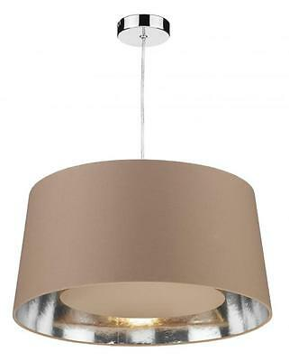 * D2 Lighting Bugle Non Electric Ceiling Light Fabric Pendant Taupe BUG6529