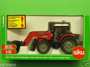 1-32-Siku-Farmer-3653-Massey-Ferguson-894-mit-Frontlader-Blitzversand-DHL-Paket