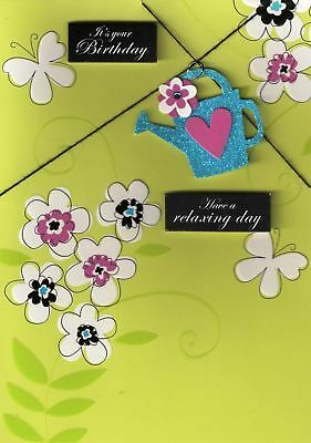 LUXURY 3D HANDCRAFTED BIRTHDAY CARDS RELAXING DAY CARD
