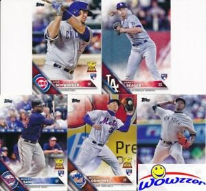 2016-Topps-Factory-Sealed-5-Card-ROOKIE-VARIATION-SET-MINT-Corey-Seager-Kyle