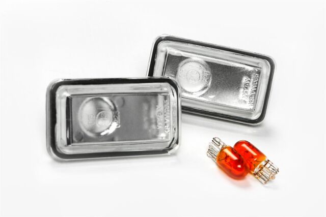 Audi 80 78-91 Clear Side Indicators Repeaters Pair Set Left Right With Bulbs