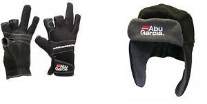 Abu-Garcia-Neoprene-Gloves-or-Fleece-Hat-Sea-Fishing-Clothing-Range