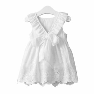 71f6d101bfb Toddler Kids Baby Girls Summer Flower Princess Dress Party Wedding ...