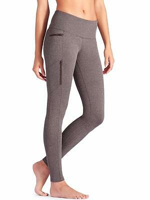 ATHLETA~BROWN~HERRINGBONE *SLY DRIFTER TIGHT* ZIPPER-POCKETS~RUNNING~M~SOLD OUT