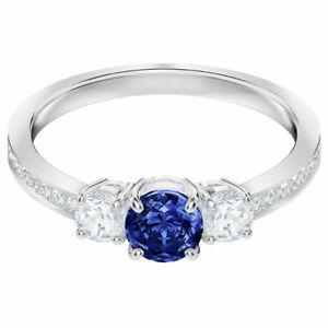 09066094af45d Attract Trilogy Ring Blue Rhodium Size 5 EUR 50 2018 Swarovski Jewelry  5448850