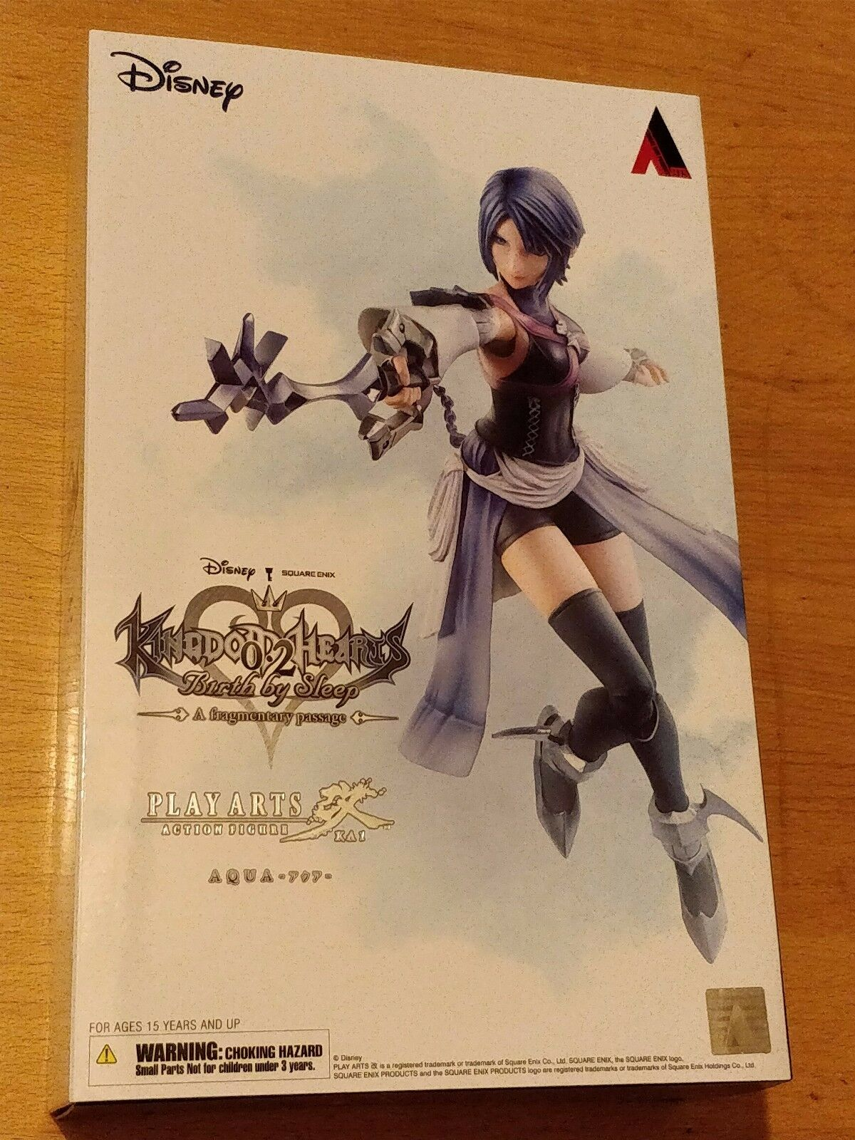 KINGDOM HEARTS 0.2 BIRTH BY SLEEP AQUA PLAY ARTS ARTS ARTS KAI FIGURE - NEW AND SEALED d14d58