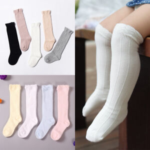 d1c15422768 Image is loading Toddler-Baby-Girls-Cotton-Knee-High-Socks-Tights-