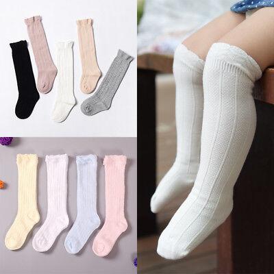 Baby Toddler Girls Cotton Knee High Socks Tights Leg Warmer Stockings For 0-LU