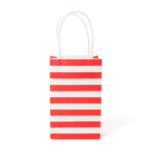 20Pcs Mini Gift Bags Striped Paper Wedding Party Candy Loot Bags with Handles