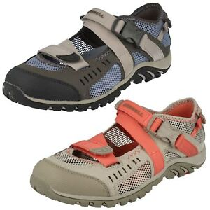 Ladies-Merrell-Buckle-Fastened-Casual-Shoes-Waterpro-Crystal-J82284