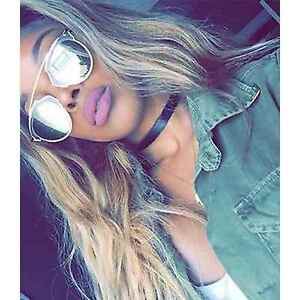 57a3392859 Image is loading Designer-Inspired-Aviator-Sunglasses-Mirrored-Lens-Women- Fashion-