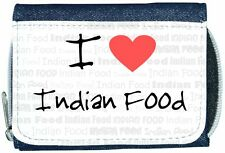I Love Heart Indian Food Denim Wallet