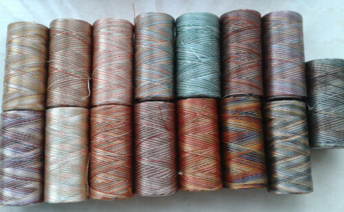15 Multi Shaded Embriodery//Sewing Thread Spools x 15 Colours Great Item