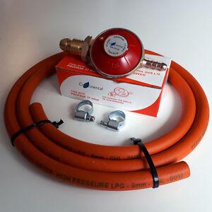 PROPANE-GAS-REGULATOR-HIGH-PRESSURE-HOSE-amp-CLIPS